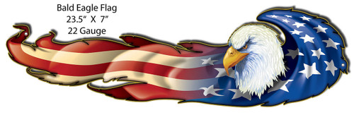 Quot Bald Eagle Amp Flag Quot Metal Sign Pin Ups For Vets Store