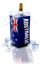 tchillbag smart ice bucket and gift bag, wine cooler. Printed on 4 sides