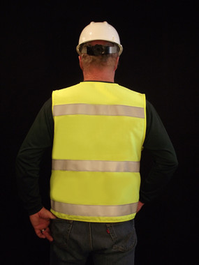 Our Hi-Visibility Vest is made of Modacrylic®, which has an APTV value of 5.5 and meets the ANSI/ISEA 107-2015 standard.
