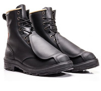 Royer Leather Steel Toe Boots With Metatarsal Protection