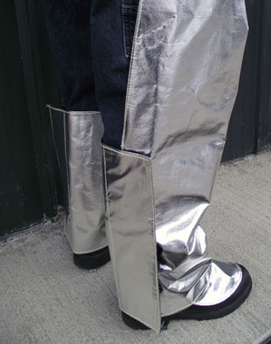 Added calf protection provides additional protection while still allowing free movement while working in our Aluminized chaps.