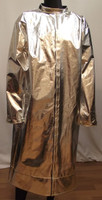 """Our 45"""" aluminized mid-length coat is available in Aluminized Carbon Kevlar®, Aluminized Rayon, Aluminized 3B, and Aluminized Leather."""