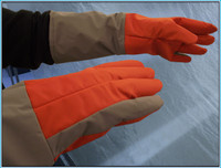 This cryogenic glove was designed by Silver Needle Inc., and tested by the Northwest Natural Gas Company.