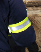 High Visibility safety arm bands perfect for industrial, utility, construction work and roadside emergencies.