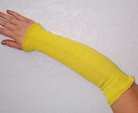 Wrist and arm guard sleeve made of FR Kevlar® knit protect against hot and cold applications.