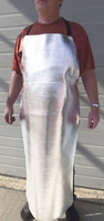 """Our 48"""" long wide bib Aluminized Leather or Aluminized Carbon Kevlar® apron offers extra body protection from high heat applications."""