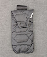 Quilted nylon large eyeglass or goggle pouch attaches to belt loop for handy accessibility.
