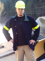FR 24oz. wool coat with reflective biceps is a naturally fire resistant and keeps workers safe in low light conditions. Wool keeps you cool or warm depending upon the environment and readily releases moisture.