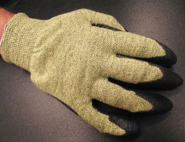 Ansell FR Kevlar® lined gloves offer ergonomic stress release design with arc and cut protection for the electrical industry. Meets FR testing CGSB 155.20-2000, provides hazard/risk Category (HRC) Level 2 Arc Flash Protection (ATPV) 9.4 cal/cm2, and offers ANSI Level 4 cut protection.
