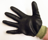 Ergonomic FR Kevlar® lined electrical worker gloves by Ansell. Meets FR testing CGSB 155.20-2000, provides hazard/risk Category (HRC) Level 2 Arc Flash Protection (ATPV) 9.4 cal/cm2, and offers ANSI Level 4 cut protection.