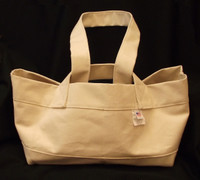 Canvas tool bag made with industrial strength canvas to provide long lasting use.
