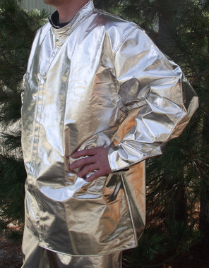 "33"" Fire resistant aluminized coat made from 3B"