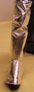 ACK tall legging boot spats for metal casting and welding work.