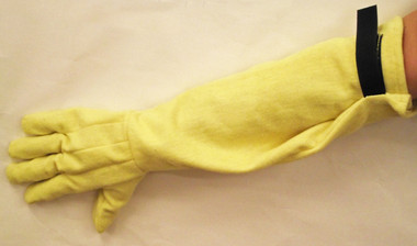 """23"""" FR Kevlar® fleece gloves with hook & loop closures."""