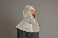 Our long drape Aluminized flame resistant protective hood has Kevlar® Knit trim around face for comfort