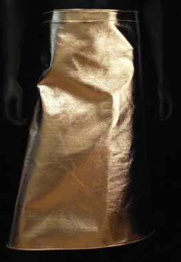 "Aluminized Carbon Kevlar® Apron is 30"" across and available in multiple lengths"