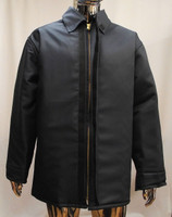 """Our FR9B Vinex® Coat measures 33"""" long has a zip front and storm flap with an FR hook and loop closure."""