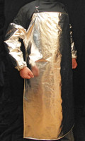 Our Cryogenic Apron is made of Aluminized 3B fabric which has been proven to repel liquified natural gas