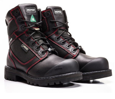 "The Royer 8"" Metal Free DLX Boots with GORE-TEX are made of a Waterproof, full grain leather, and SHIELDTEX abrasion resistant fabric."