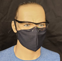 """The """"anti-fog"""" flap helps keep your glasses from fogging up while wearing both a mask and glasses!"""
