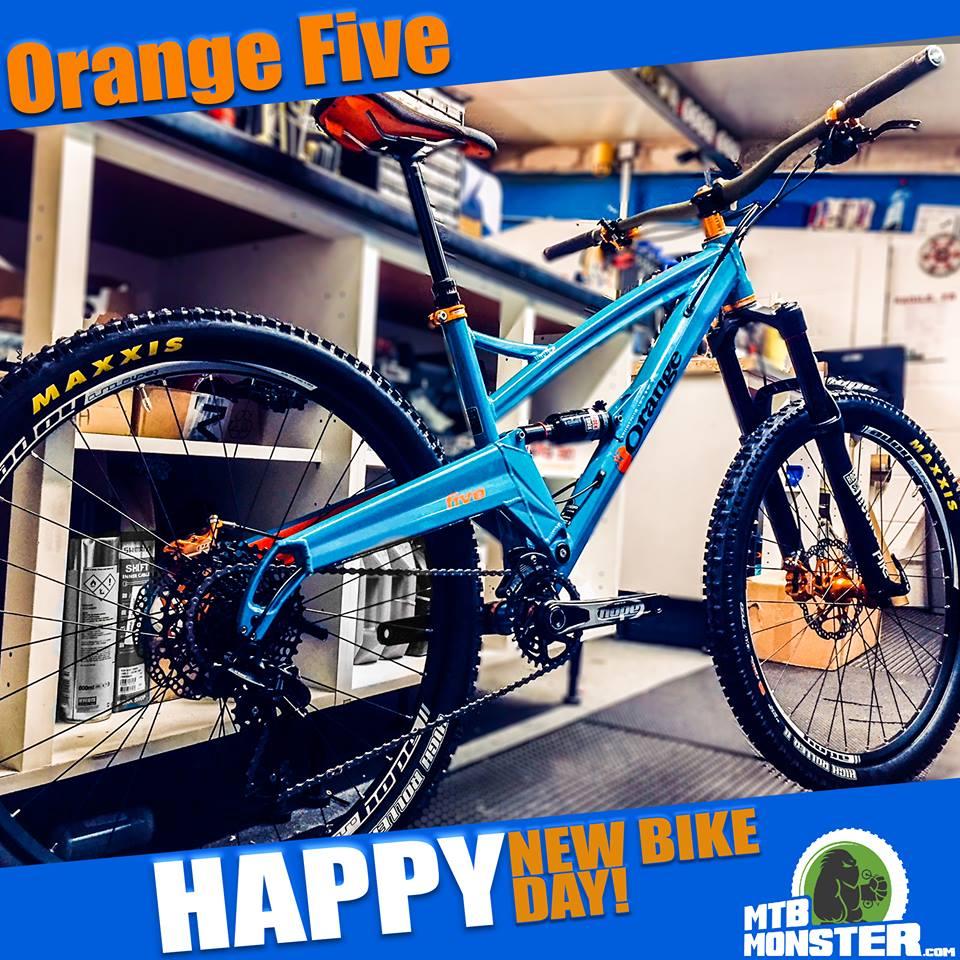 Orange Bikes Five Custom Build
