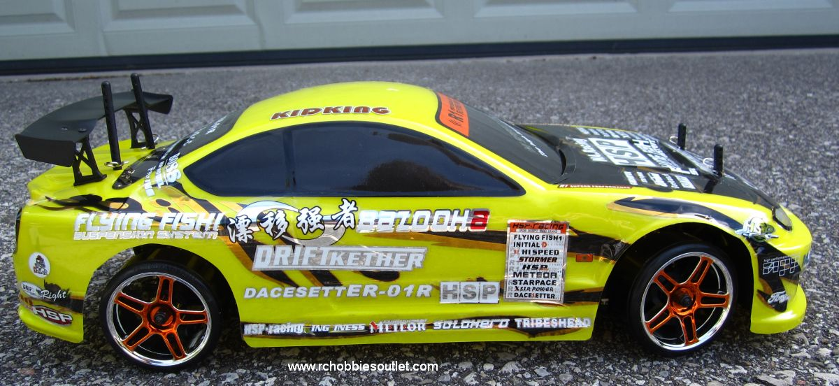 RC Drift Car Electric with 8 Lights Radio Control 2 4G RTR 1