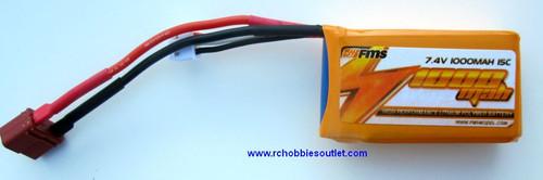 FMS Battery 7.4v 1000 mah battery for P40 Warhawk
