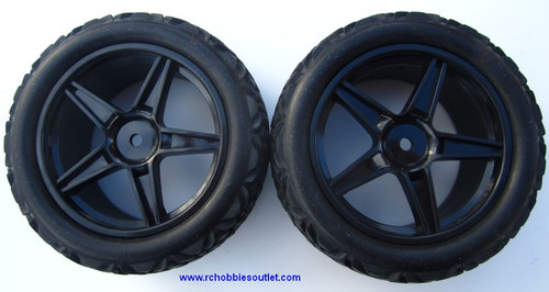 20122 Front Tire & Wheel HSP Sand Rail Buggy  06010 Black Rim