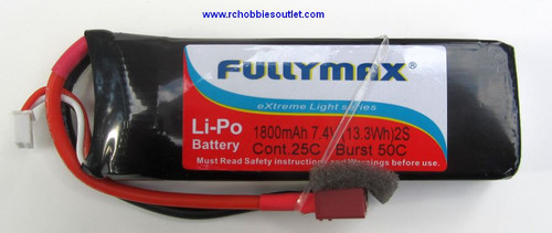 RC LIPO Battery 7.4V 25C 2 CELL 1800 MAH  for 1-16 Scale TOP