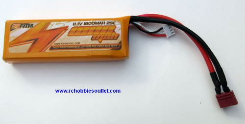 LIPO Lithium 11.1V 25C 3S 1800MAH RC Battery FMS FR203