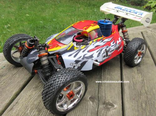 RC Nitro Buggy / Car 1/8  Bazooka  PRO Radio Control 2.4G  4WD 81355G RTR