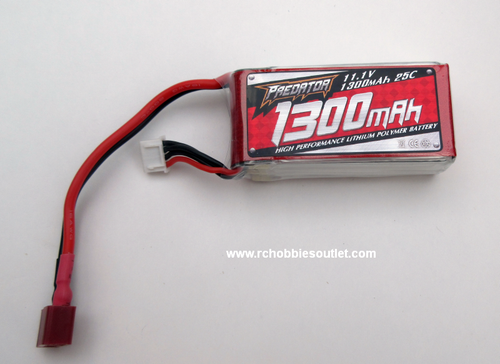 PE3S1300/25C 11.1V 1300mAh 25C LIPO Battery FMS