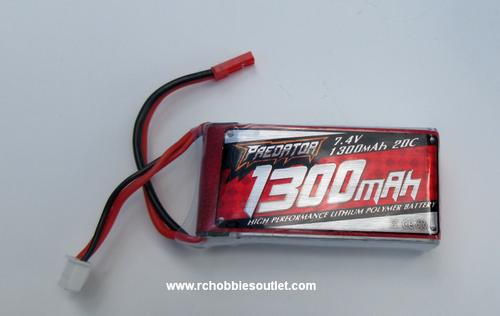 PE2S1300/20C 7.4V 1300mAh 20C LIPO Battery FMS