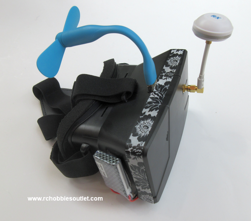 Goggles Headset for use with FPV Quadcopters / Drones