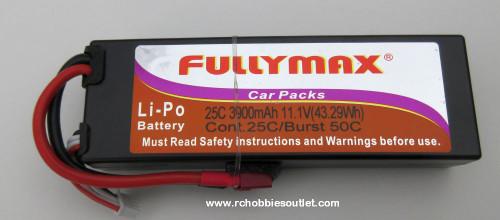 Fullymax 11.1V 3900mAh 3cell  25C LIPO Hard Shell  RC Battery