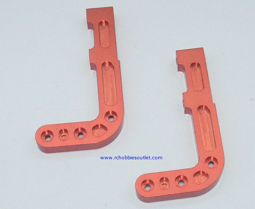 880006 Aluminum Bumper Post Mount  Orange  2 Pieces