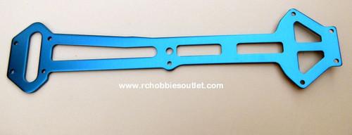 03990  Radio Tray Blue Aluminum Upper Top Plate  HSP. Redcat
