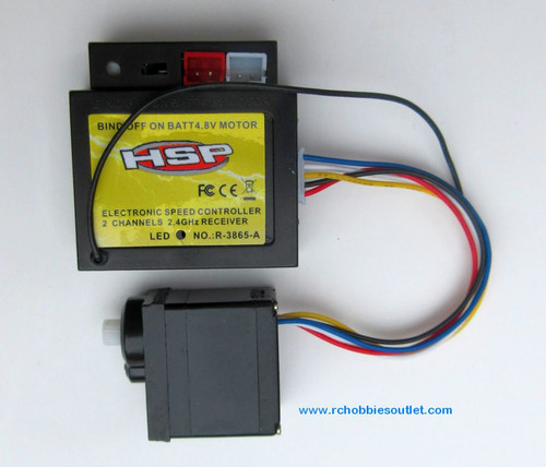 24646 ESC + Receiver+ Servo For HSP, ECX 1/24 Scale