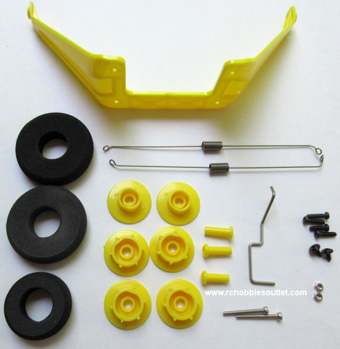 620205 Landing Gear Set-Yellow For J3-Cub V2 RC Airplane
