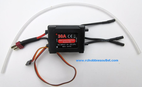 820902 30A Water Cooled Brushless ESC w/ BEC for -Mad Flow  V2  and Rocket V2 RC Boats