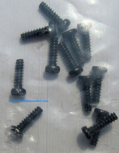 24638 Round Cross Head Self-Tapping Screws for  1/24 scale HSP and ECX RC Vehicles