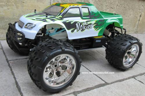 RC Nitro Truck 1/8 Scale  Radio Control Nokier 3.5cc  4WD 2 Speed 2.4G 08318 silver