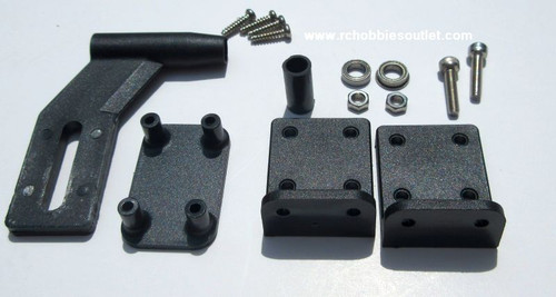 830110 Rear Shaft Strut Support Set For V2 4mm Version For US-1 Icecool V2 Joysway RC Boat