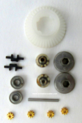 24626 Diff. Gear Complete For  HSP and ECX  1/24 Scale Vehicles