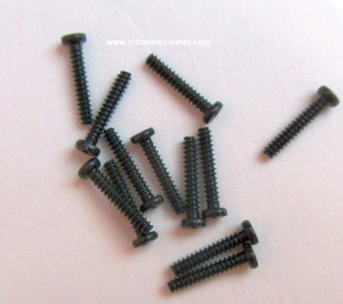 24639 Round Cross Head Self- Tapping Screw 1.4*9mm 12P For  HSP and ECX  1/24 Scale Vehicles