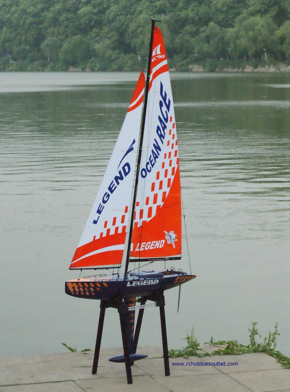 Rc Sail Boat Yacht Sailboat Legend 2 4g Radio Remote