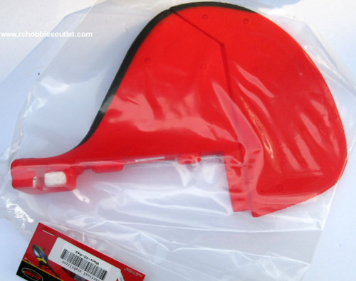 Red Vertical Stabilizer for Dynam Waco