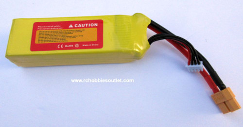 LIPO Lithium RC Battery 11.1V 25C 3 Cell 2200MAH XT60  Connector