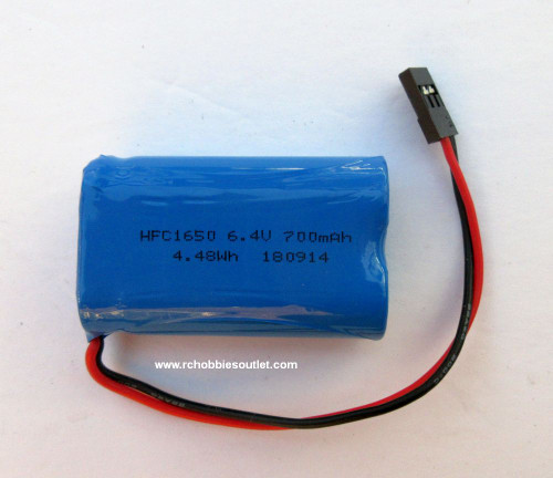 881558 LiFe-Po 6.4volt 700mAh Sailboat Battery Pack