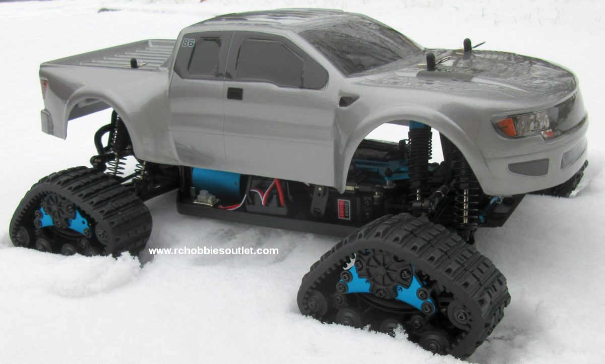 Snow Tracks For Trucks >> Rc Snow Track Truck Brushess Electric 1 10 Pro Lipo 2 4g 4wd 01054